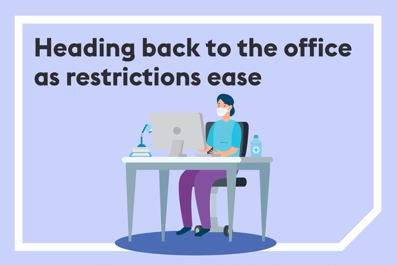 Heading back to the office as COVID-19 restrictions ease